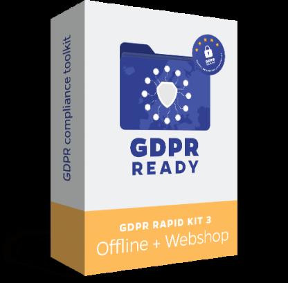 GDPR Rapid Kit - Offline + Webshop - Recomandăm acest KIT firmelor care au nevoie de impementare GDPR și pe webshop.